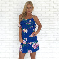 Riches to Royal Floral Shift Dress