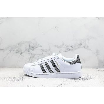 Adidas Superstar White Black Sneakers