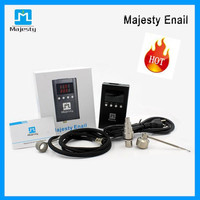 2015 Majesty Dnail Electronic Temperature Controller Box For DIY Smoker E Nail Coil With Ti Nail Glass Bong Vapor Wax Dry Herb free