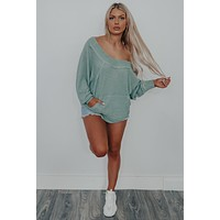 Ready To Go Top: Dusty Mint