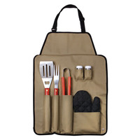 Outdoor 7-piece Barbecue Apron and Utensil Set   Overstock.com Shopping - The Best Deals on Grilling Tools & Cookware