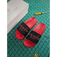 Givenchy Paris Sandals In Rubber Black Red