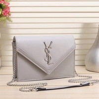 YSL Yves Saint laurent Women Fashion Leather Chain Satchel Shoulder Bag Crossbody-4