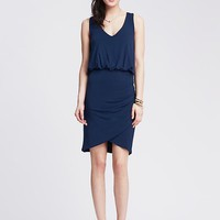 Banana Republic Womens Shirred Knit Tank Dress