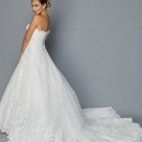 Inexpensive Lace Ball gown Wedding Dress jul#351