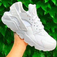 Nike Air Huarache Popular Women Men Casual Running Sport Shoes Sneakers White
