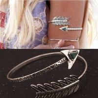 Bohemian Ethnic Upper Arm Bracelet Vintage Arrow Open Bangle Armlet Arm Cuff