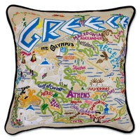 GREECE HAND-EMBROIDERED PILLOW