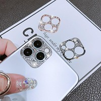 Sparkling Rhinestone Adhesive Lens Protector iPhone 11 Triple Camera