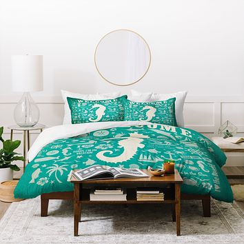 Anderson Design Group Seahorse Pattern Duvet Cover