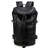 Comfort College Hot Deal On Sale Stylish Back To School Vintage Men Casual PU Leather Backpack [4915420740]