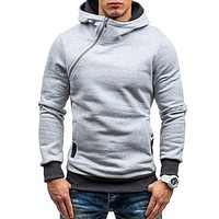 Men Sweatshirt Tracksuit Zipper Pullover Hooded Sportswear
