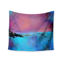 """Oriana Cordero """"Versailles-Abstract"""" Pink Blue Wall Tapestry"""
