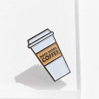 Yesterdays Coffee Addict Pin | Urban Outfitters