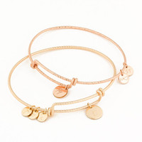 Personalized Bangle Bracelet in Gold Filled and Rose Gold Filled • Custom Initial Bracelet • Bangle Bracelet • Personalized Gift | 0091BM