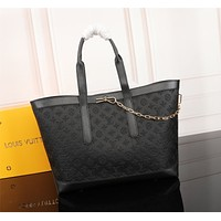 LV Louis Vuitton MONOGRAM LEATHER HANDBAG TOTE BAG