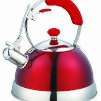 Red Heavy Duty Stainless Steel 2.5 LT Whistling Kettle [Kitchen]