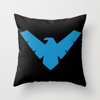 Minimal Superheroes - Nightwing Throw Pillow by AlexR56 | Society6
