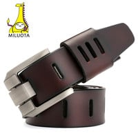 Designer Belts Men High Quality Genuine Leather Belt for Men Luxury Military Style