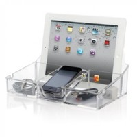 ClearTech Smartphone and Tablet Desktop Organizer - Charging Station