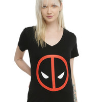 Marvel Deadpool Logo Girls T-Shirt