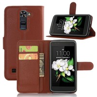 PU Leather Cover Case For LG K7 LG M1 Flip Protective Mobile Phone Shell Back Cover Skin With Slot