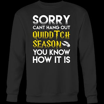 Harry Potter - Sorry cant hang out quiddtch season - unisex sweatshirt t shirt - TL00966SW