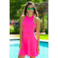 Fun In The Sun Dress-Hot Pink