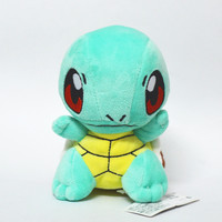 "1pcs 6""15cm Pikachu squirtle Plush Toy baby toy pokeball plush Figure Collectible Doll Anime Manga kid Gift"
