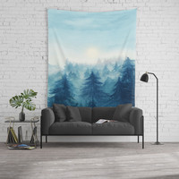 Into The Forest VIII Wall Tapestry by Marco Gonzalez