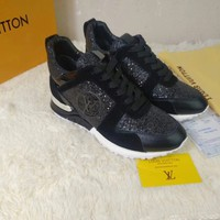"LV Louis Vuitton Women Brown ""Monogram Empriente"" Flats Boots Casual Sneaker sport running white Shoes Best quality"