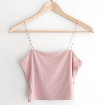 Cropped Cami - Dusty Pink