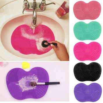 Newest Silicone brush cleaner Cosmetic Make Up Washing Brush Gel Cleaning Mat Fo