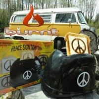 Classic 1960's Peace Sign Toaster - Make Toast, Not War!:Amazon:Kitchen & Dining