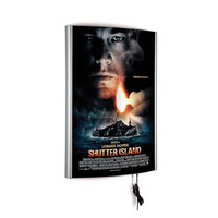 Convex Light Box 20w x 30h Poster Size Silver Single Sided