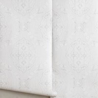 Lisse Wallpaper by Anthropologie in Light Grey Size: One Size Decor