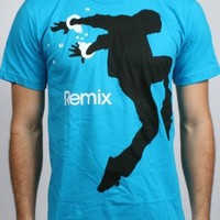 Remix Mens T-shirt in Teal by Imaginary Foundation