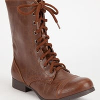 Soda Relax Combat Womens Boots Tan  In Sizes