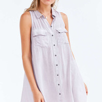 Silence + Noise Billie Washed Mini Shirt Dress - Urban Outfitters
