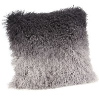 Lamb Fur Pillow Grey Spectrum Wool