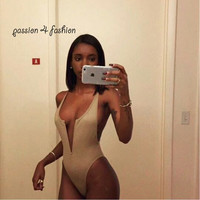 Summer Style 2015 Bandage Strappy bodysuit Sexy backless One Piece bodysuit Women Black and army green