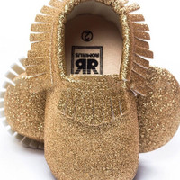 Sprinkle of Gold- PU Baby Moccasins