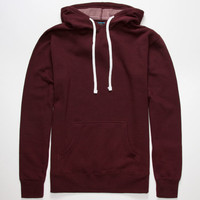 Standard Supply Slim Fit Mens Pullover Hoodie Burgundy  In Sizes