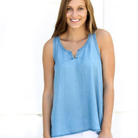 Spring Into Chambray Tank