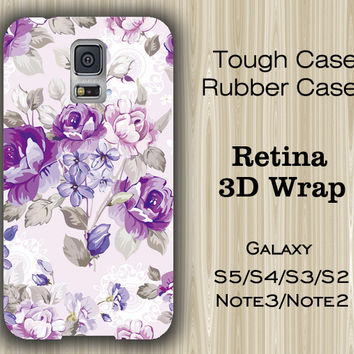 Purple Floral Pattern Samsung Galaxy S5/S4/S3/Note 3/Note 2 Case