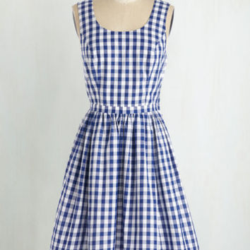 Americana Mid-length Sleeveless Fit & Flare As Potluck Would Have It Dress