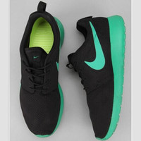 """NIKE"" Trending Fashion Casual Sports Shoes black green"