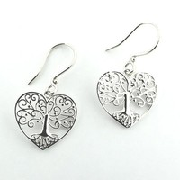 Southern Gates Tree Heart Earrings