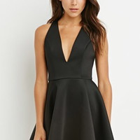 Halter Fit & Flare Dress