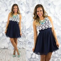 Top of the World Dress in Navy